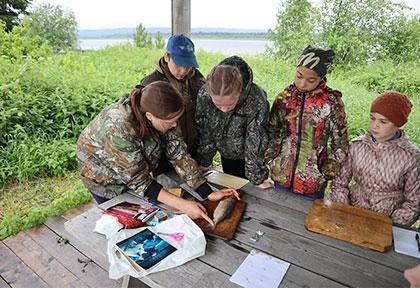 Летняя практика студентов в заповеднике